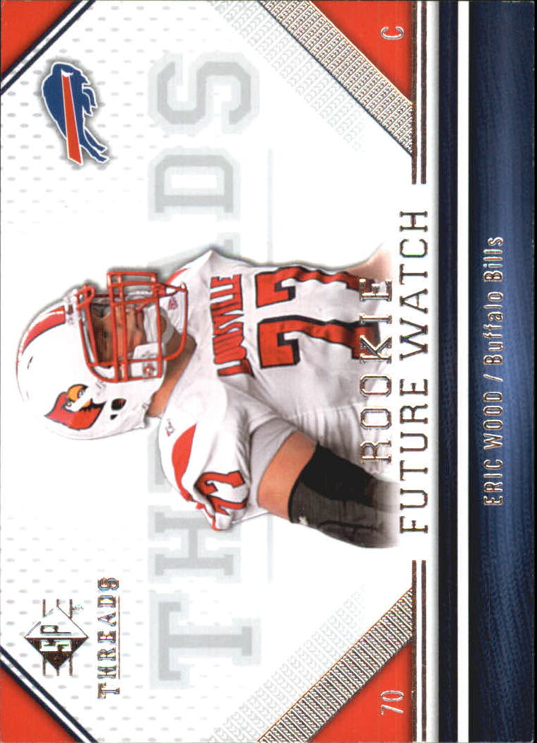 Amerikaans voetbal 2009 SPx #173 Eric Wood Buffalo Bills RC Rookie Football Card Verzamelingen
