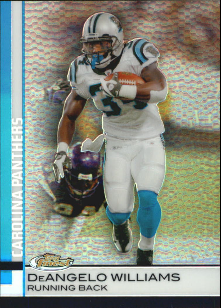 2009 Finest Pigskin Refractors #19 DeAngelo Williams