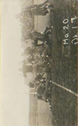1913 Missouri Postcards #4 Missouri 20, Oklahoma 17/(photo at goal line)