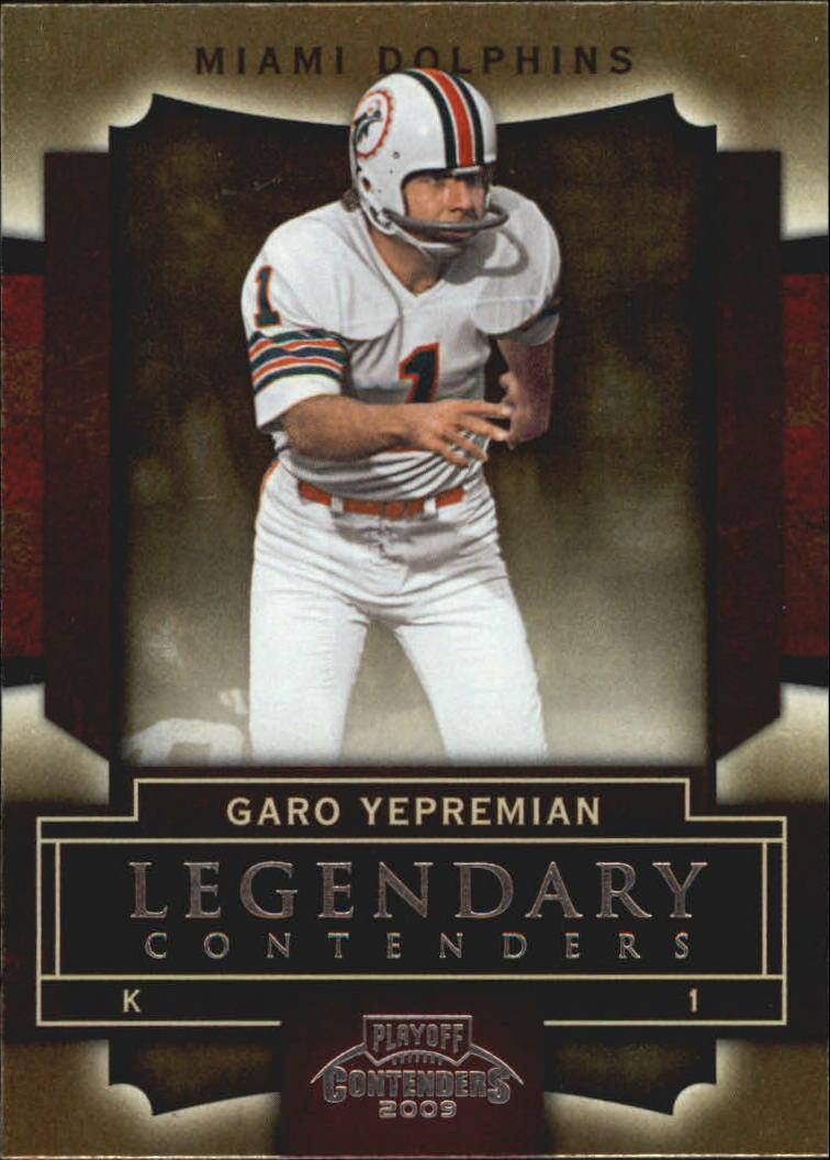 2009 Playoff Contenders Legendary Contenders #35 Garo Yepremian