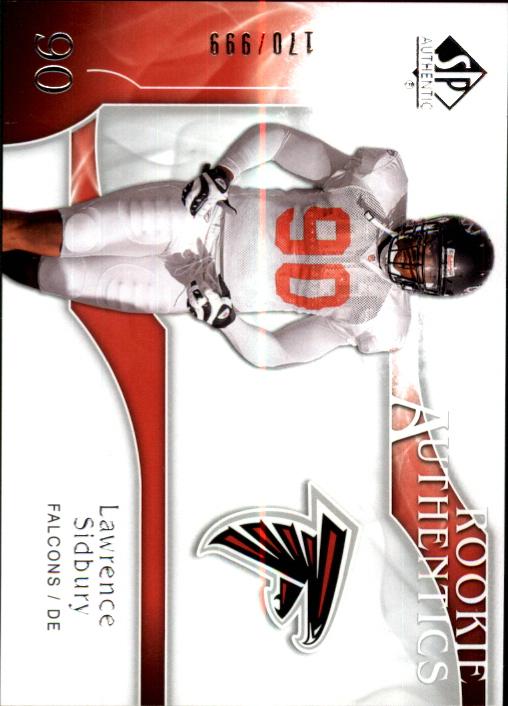 2009 SP Authentic #205 Lawrence Sidbury RC