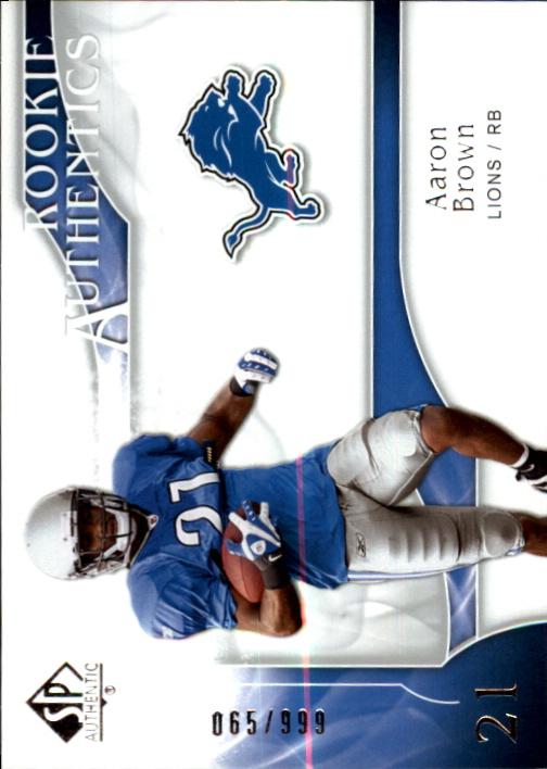 2009 SP Authentic #240 Aaron Brown RC