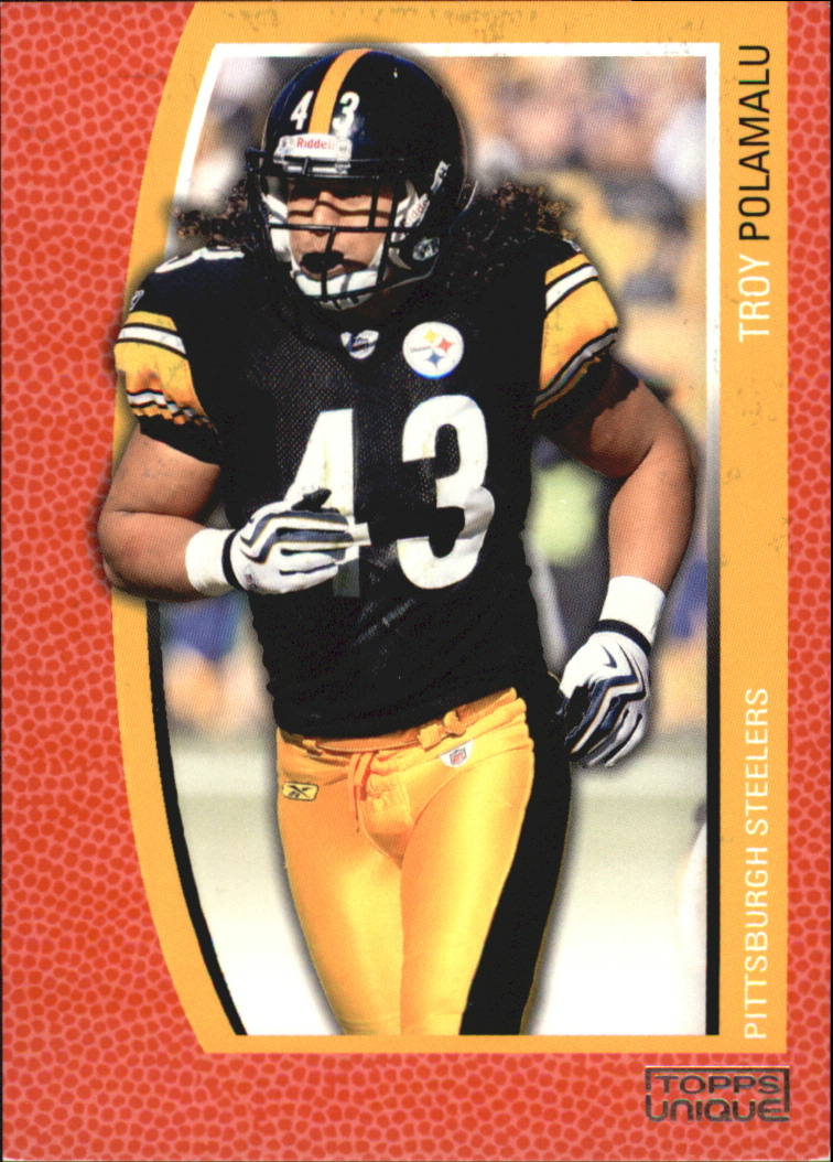 48550aedce3 2009 Topps Unique Red Steelers Football Card  135 Troy Polamalu STEELERS   799