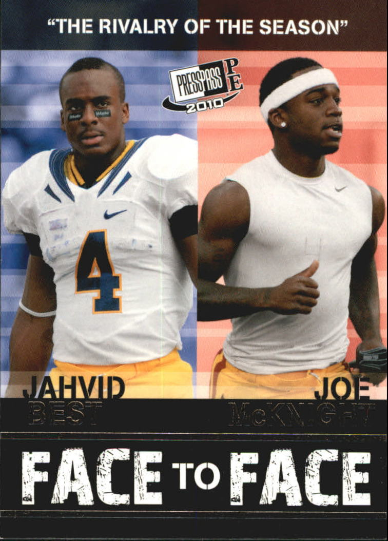 2010 Press Pass PE Face To Face #FF1 Jahvid Best/Joe McKnight
