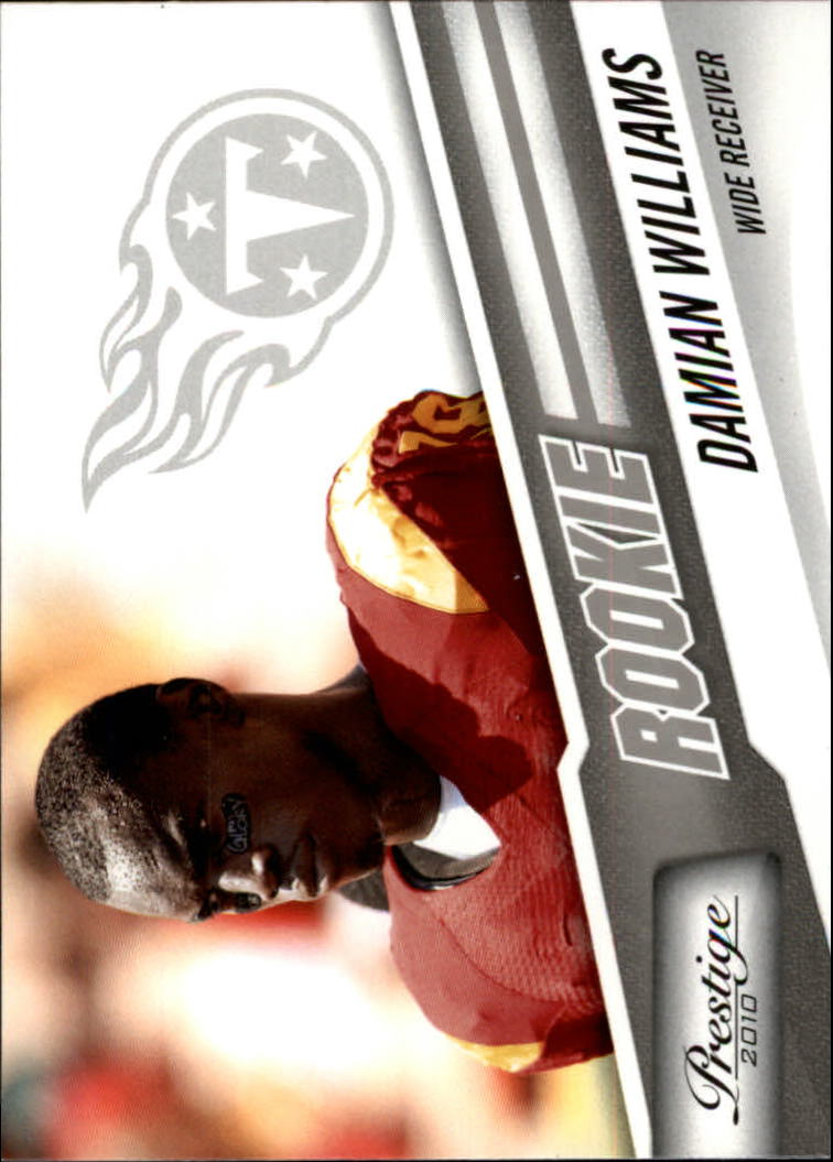 2010 Prestige #225 Damian Williams RC
