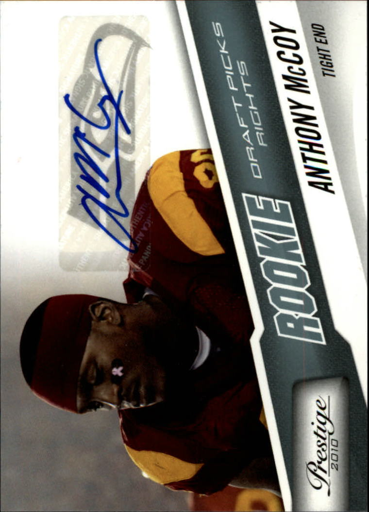 2010 Prestige Draft Picks Rights Autographs #206 Anthony McCoy/999
