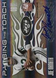2010 Donruss Elite Passing the Torch Autographs #1 Joe Namath/Mark Sanchez