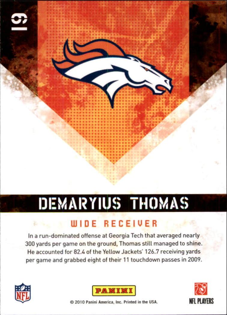 2010 Score Hot Rookies #19 Demaryius Thomas back image