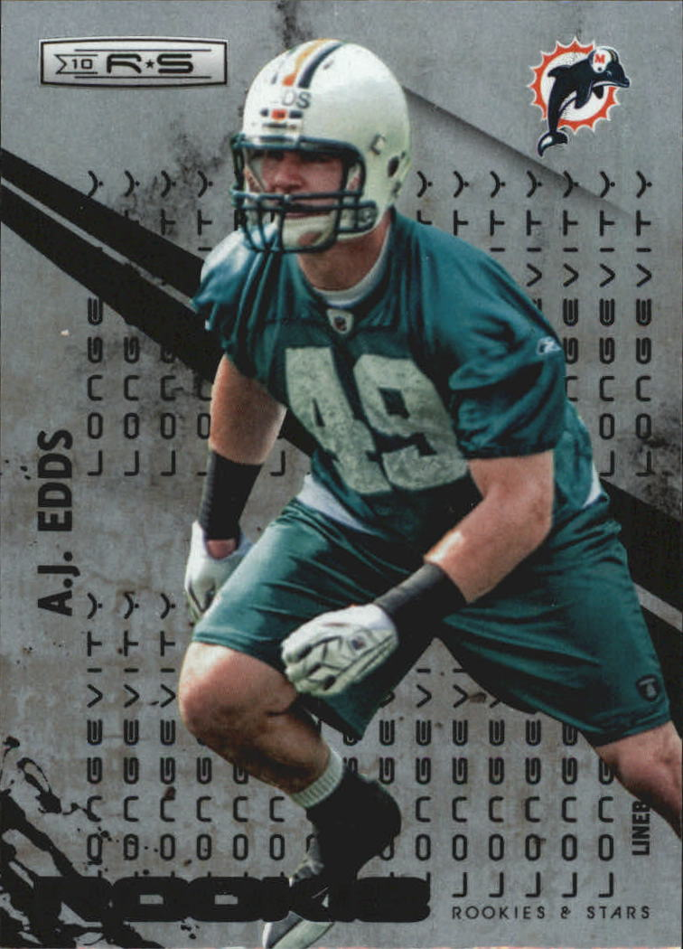 2010 Rookies and Stars Longevity Parallel Silver #166 A.J. Edds