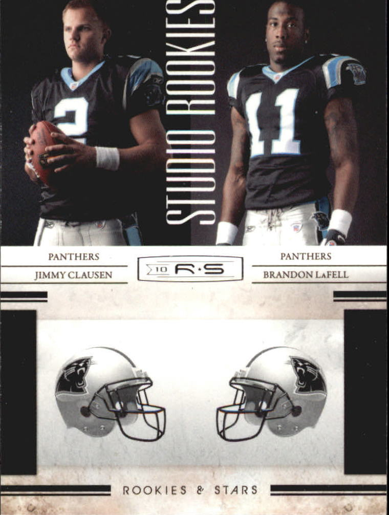 2010 Rookies and Stars Studio Rookies Combos #3 Jimmy Clausen/Brandon LaFell