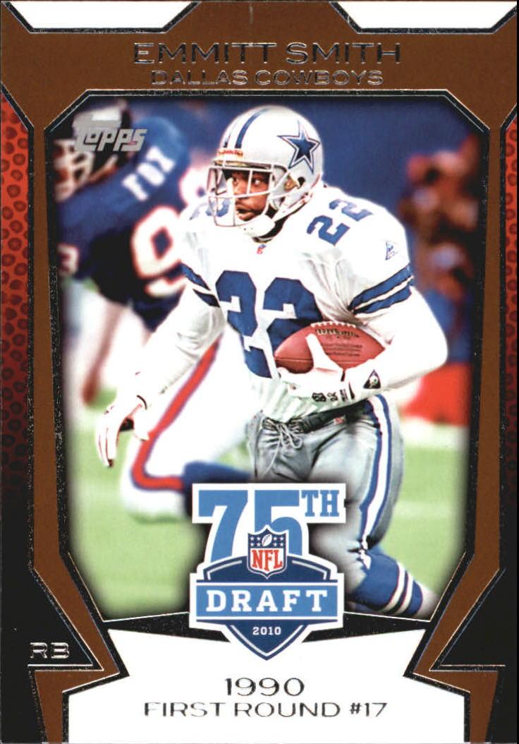 2010 Topps Draft 75th Anniversary #75DA30 Emmitt Smith