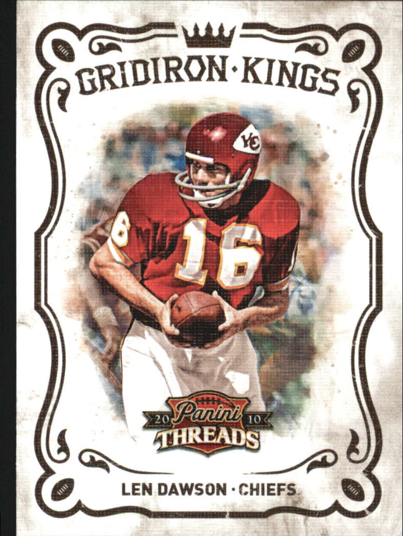 2010 Panini Threads Gridiron Kings #21 Len Dawson