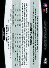 2010 Topps Platinum Rookie Autographs #157 Jahvid Best/400 back image
