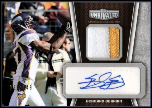 2010 Topps Unrivaled Autographed Patch #UAPBB Bernard Berrian/149