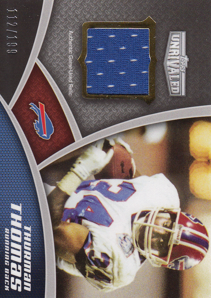 2010 Topps Unrivaled Greats Jerseys #UGRTT Thurman Thomas