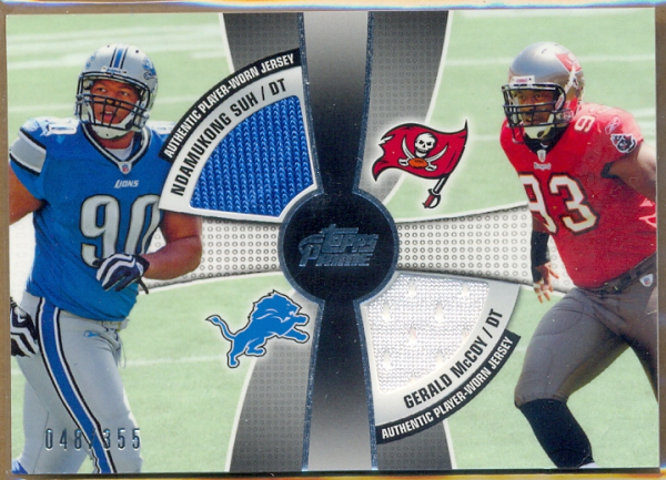 2010 Topps Prime 2nd Quarter Relics #SM Ndamukong Suh/355/Gerald McCoy