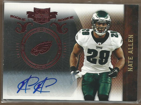 2010 Panini Plates and Patches #175 Nate Allen AU/99 RC