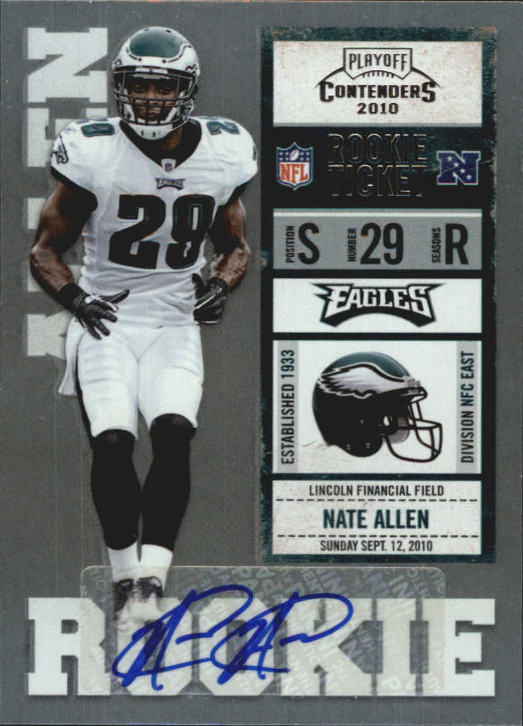 2010 Playoff Contenders #174 Nate Allen AU RC