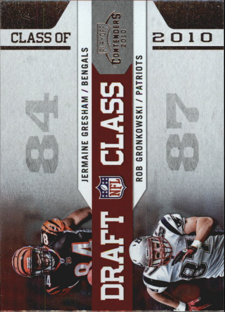 Details About 2010 Playoff Contenders Draft Class Card 4 Jermaine Gresham Rob Gronkowski
