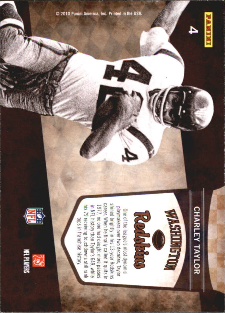 2010 Playoff Contenders Legendary Contenders #4 Charley Taylor back image