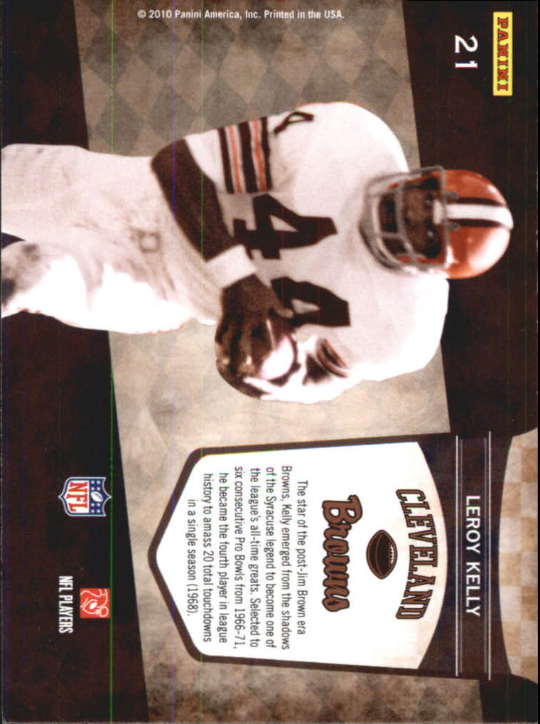 2010 Playoff Contenders Legendary Contenders #21 Leroy Kelly back image