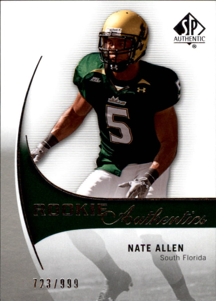 2010 SP Authentic #198 Nate Allen RC