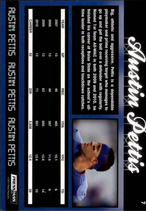 2011 Press Pass #7 Austin Pettis back image