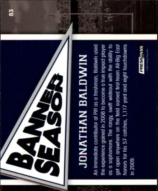 2011 Press Pass #83 Jonathan Baldwin BS back image