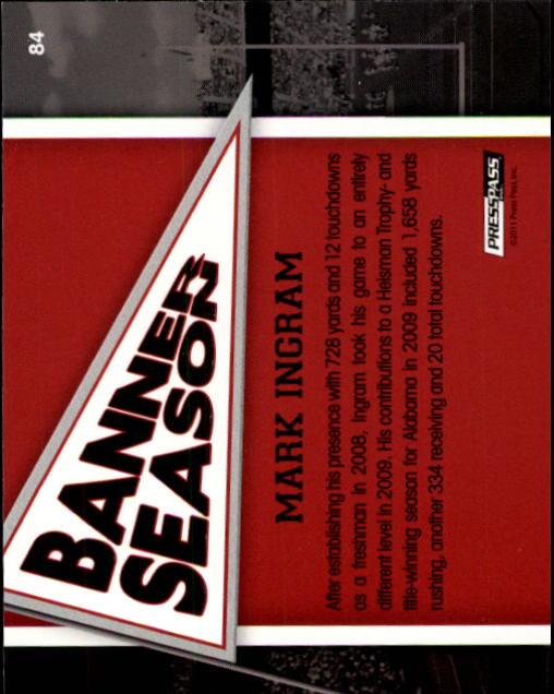2011 Press Pass #84 Mark Ingram BS back image