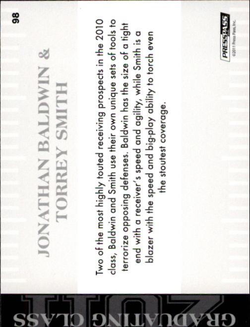 2011 Press Pass #98 Jonathan Baldwin GC/Torrey Smith back image