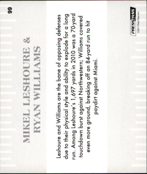 2011 Press Pass #99 Mikel Leshoure GC/Ryan Williams back image