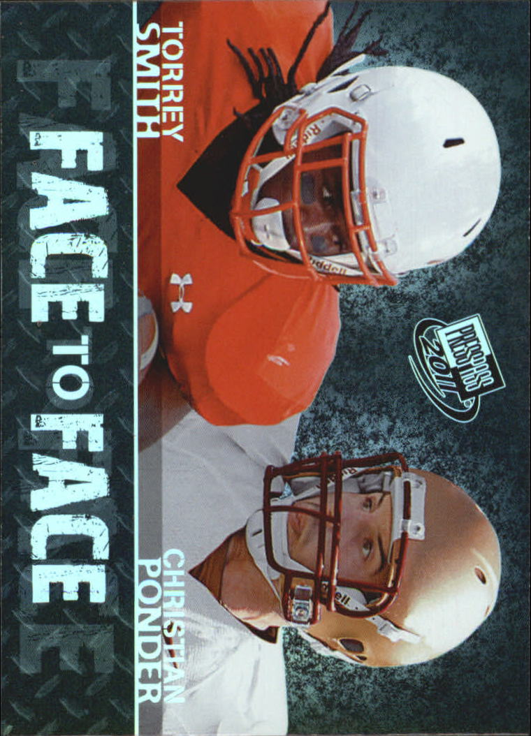 2011 Press Pass Face to Face #FF13 Torrey Smith/Christian Ponder