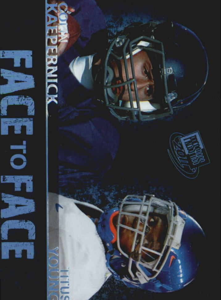 2011 Press Pass Face to Face #FF14 Colin Kaepernick/Titus Young