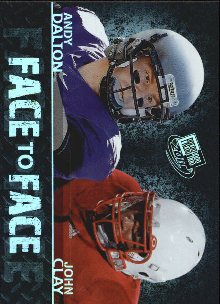 2011 Press Pass Face to Face #FF15 Andy Dalton/John Clay