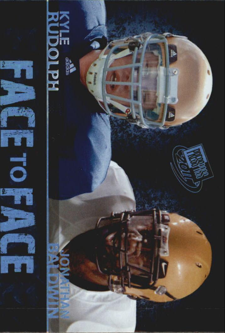 2011 Press Pass Face to Face #FF5 Jonathan Baldwin/Kyle Rudolph