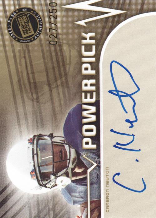 2011 Press Pass Power Pick Autographs #PPCN Cam Newton/230*