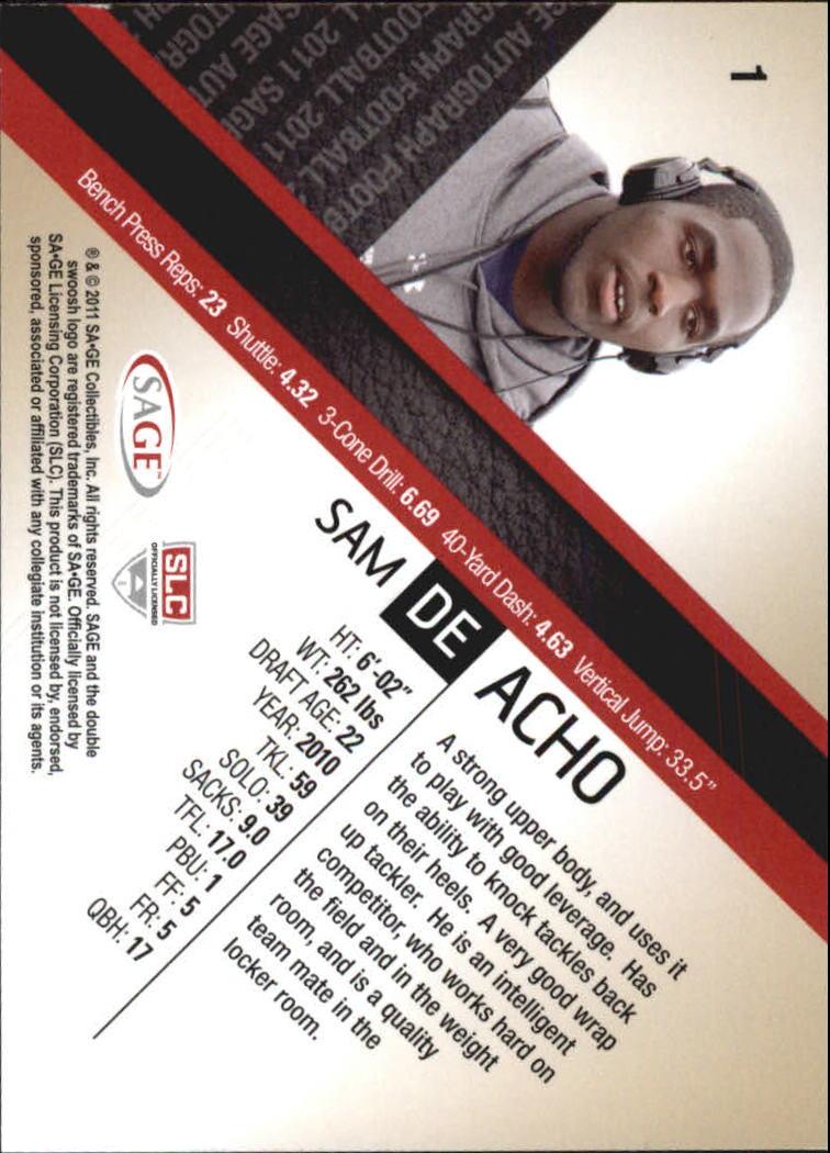 2011 SAGE #1 Sam Acho back image