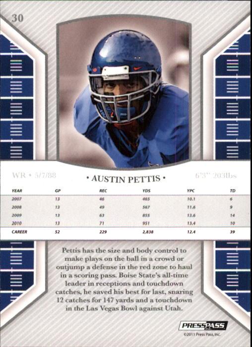 2011 Press Pass Legends #30 Austin Pettis back image