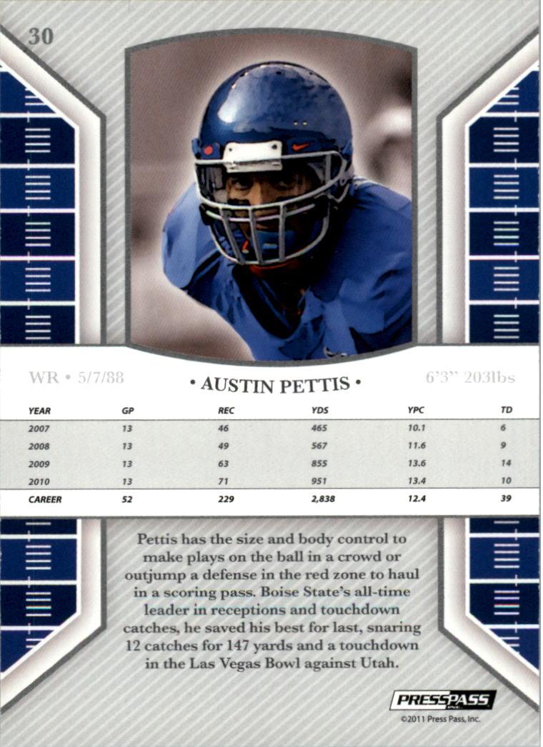 2011 Press Pass Legends Bronze #30 Austin Pettis back image