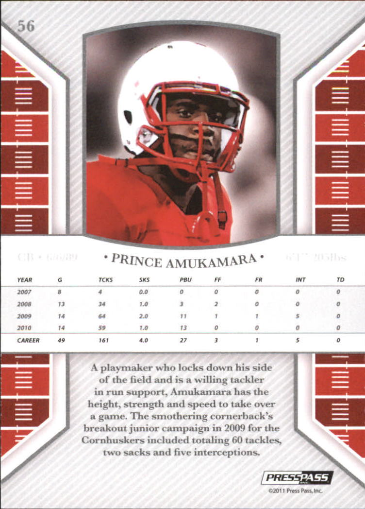 2011 Press Pass Legends Bronze #56 Prince Amukamara back image