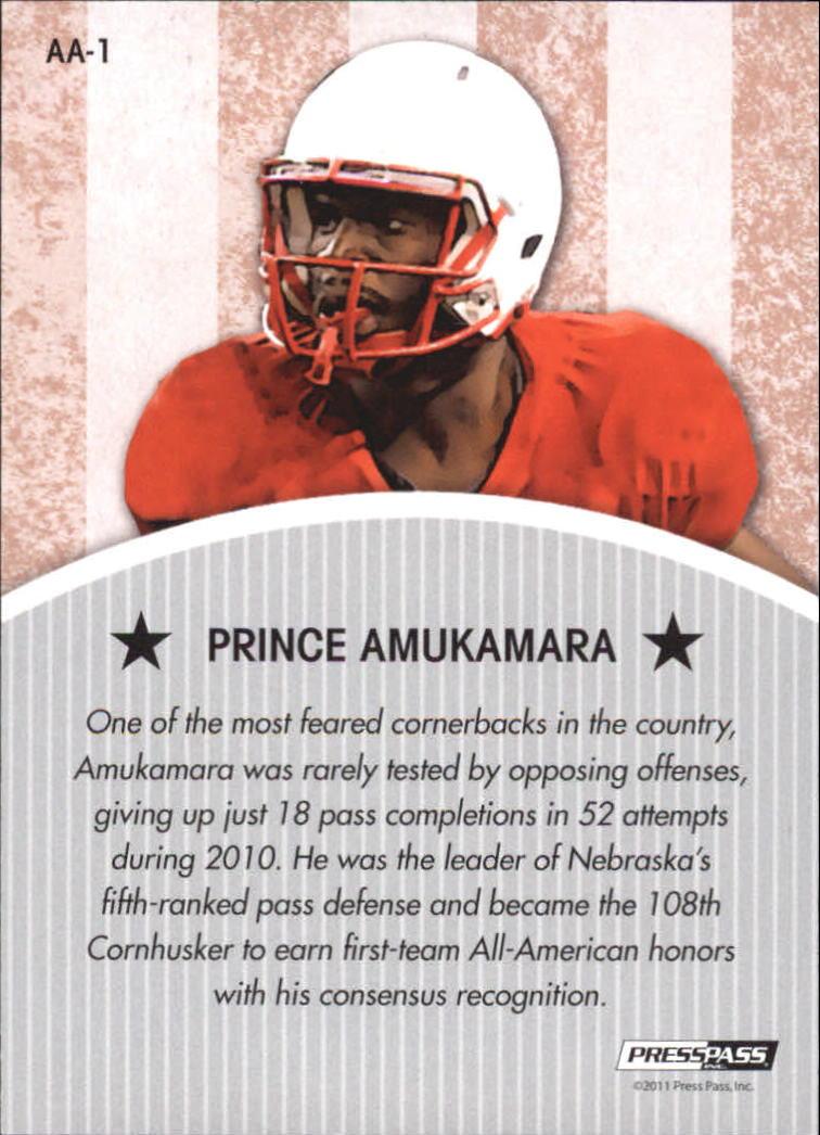 2011 Press Pass Legends All Americans #AA1 Prince Amukamara back image