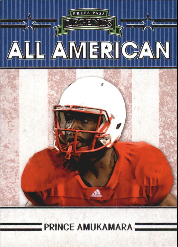 2011 Press Pass Legends All Americans #AA1 Prince Amukamara