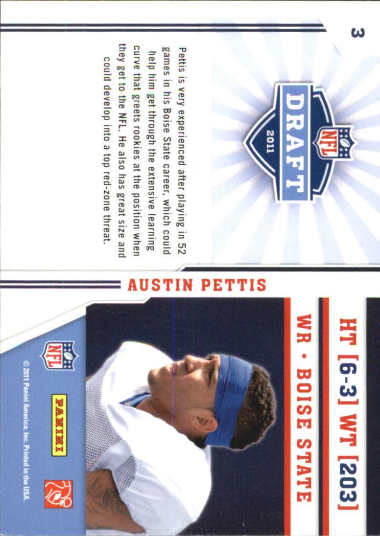2011 Prestige NFL Draft #3 Austin Pettis back image