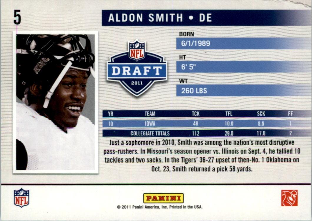 2011 Prestige NFL Passport #5 Aldon Smith back image