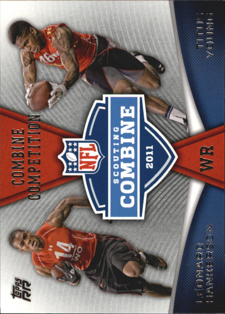 2011 Topps Rising Rookies Combine Competition #CCHY Leonard Hankerson/Titus Young