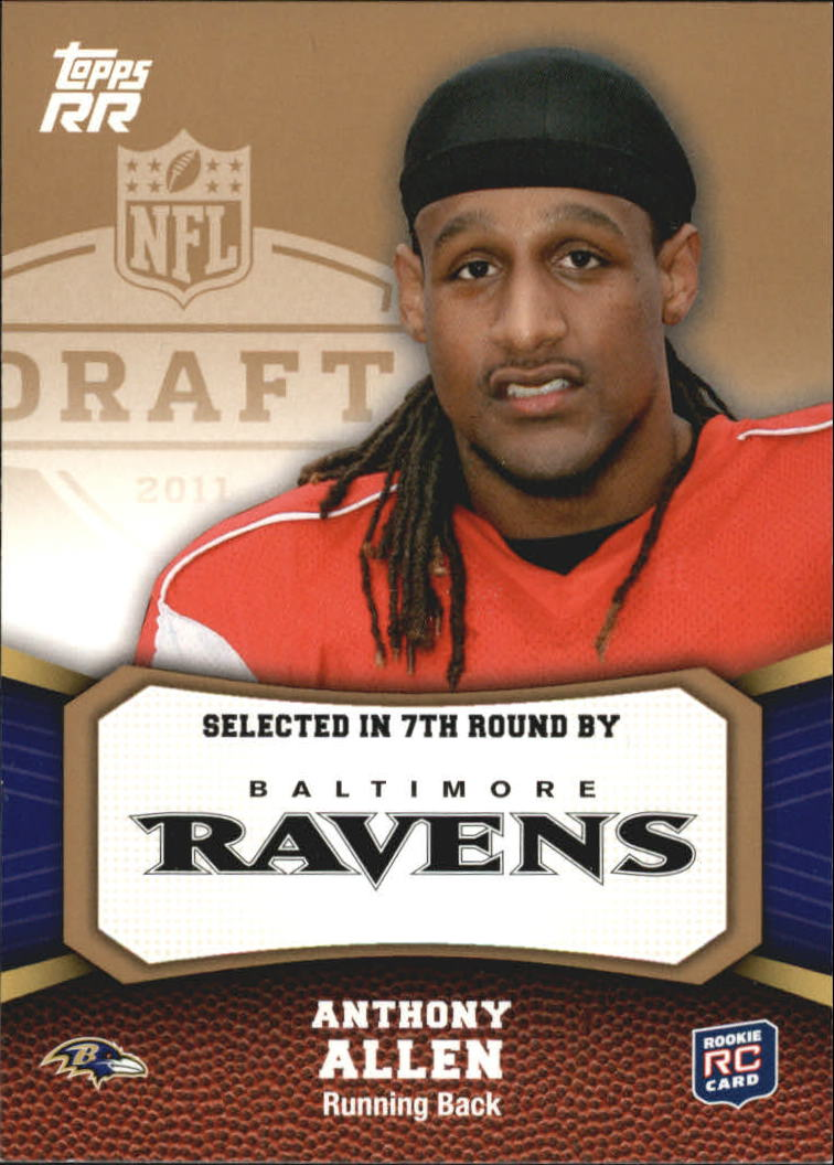 2011 Topps Rising Rookies Gold #176 Anthony Allen
