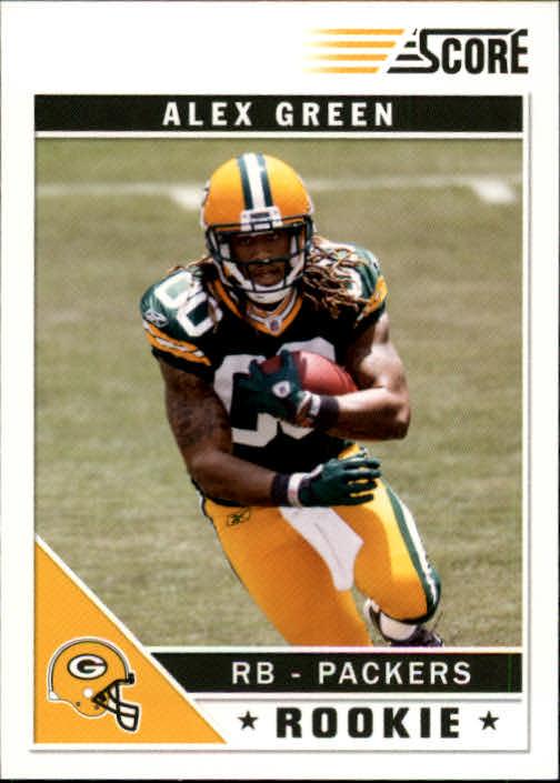 2011 Score #307A Alex Green RC/(field in background)