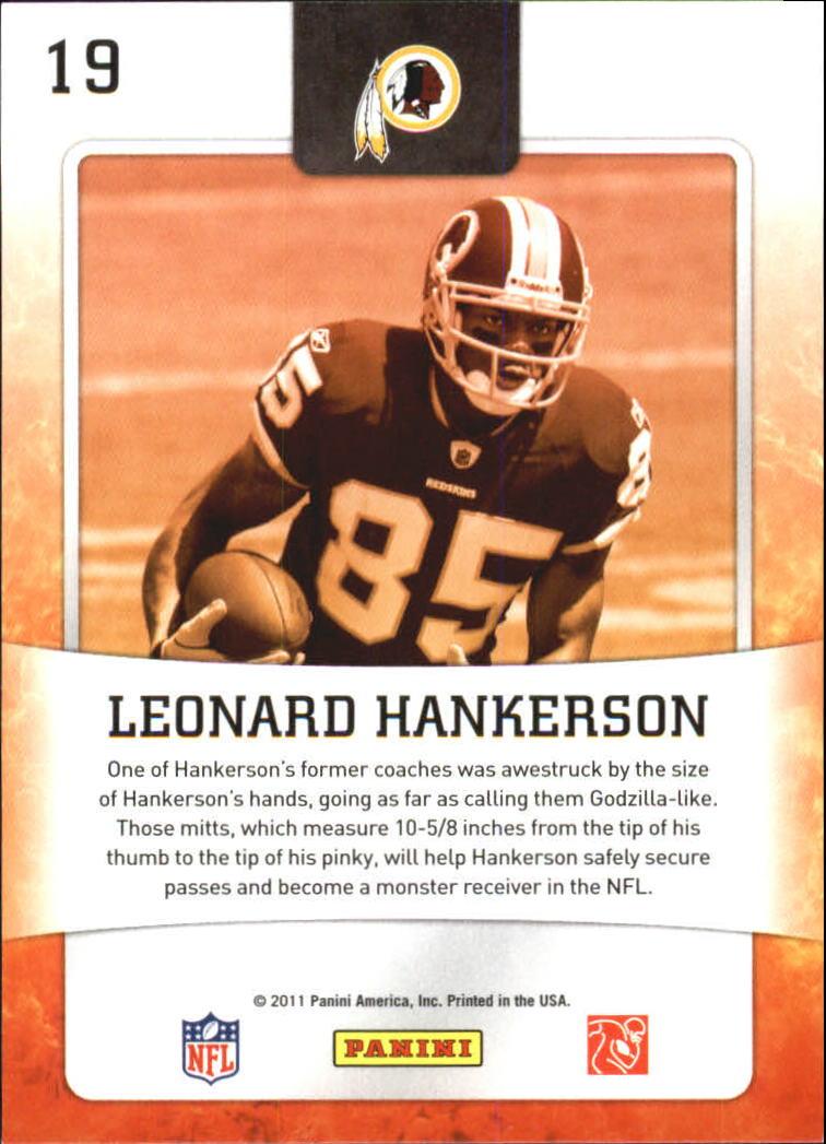 2011 Score Hot Rookies #19 Leonard Hankerson back image
