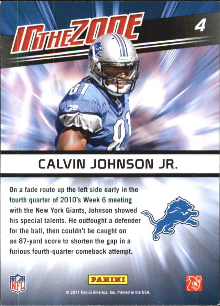 2011 Score In the Zone Gold Zone #4 Calvin Johnson back image