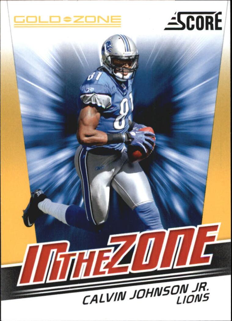 2011 Score In the Zone Gold Zone #4 Calvin Johnson
